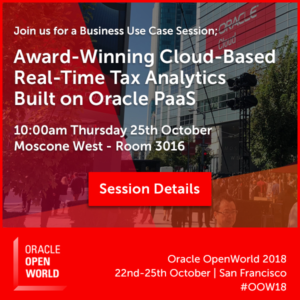 Join Innovate Tax at Oracle OpenWorld 2018